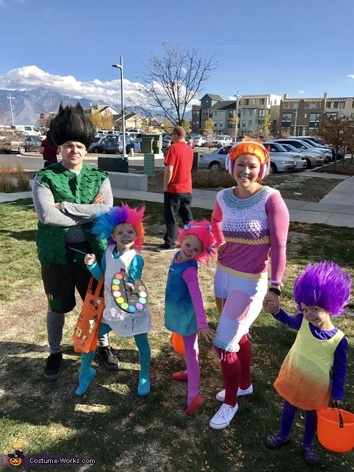 Trolls Family Homemade Costume