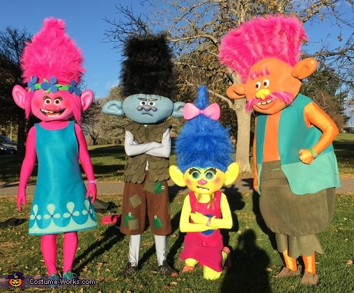 Trolls Family Costume