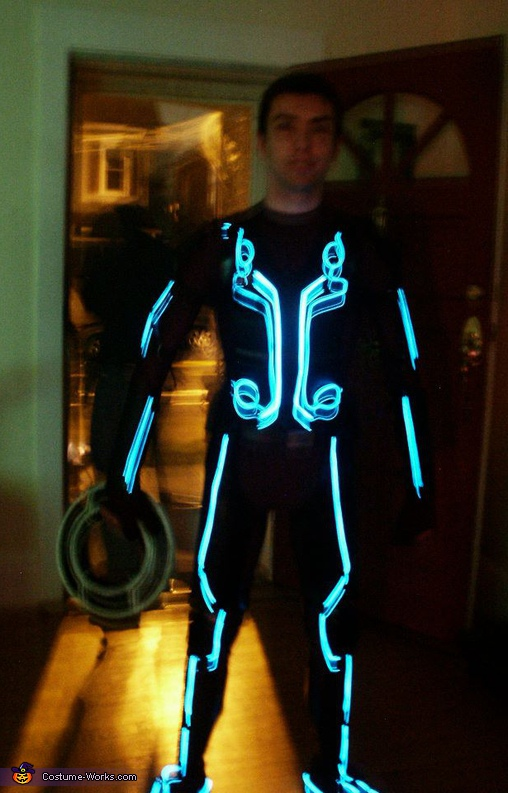 night time blurry but only way to get full lights, Tron Legacy Costume