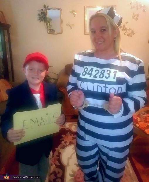 Trump and Clinton Costume