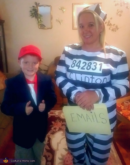 Trump and Clinton Homemade Costume