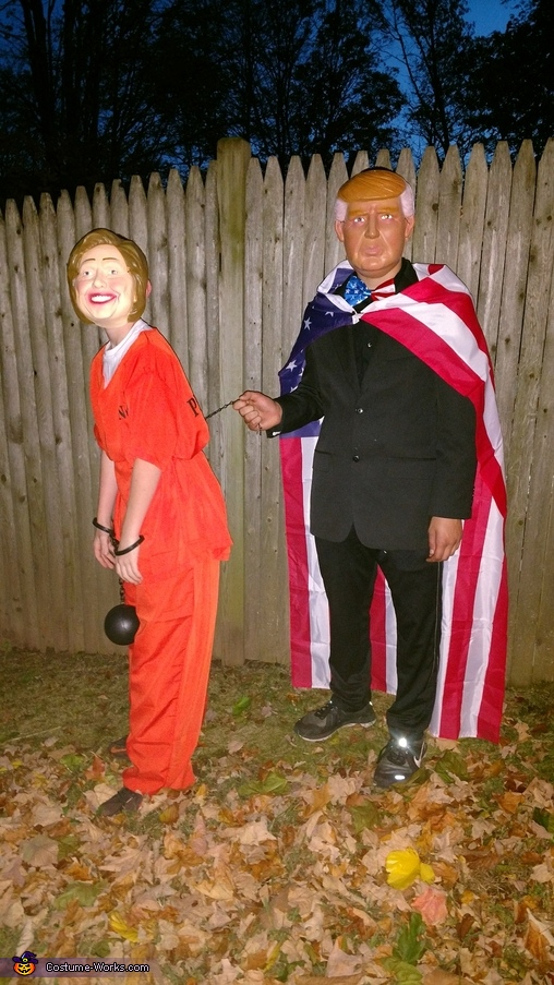 Trump and Hillary Couple Costume