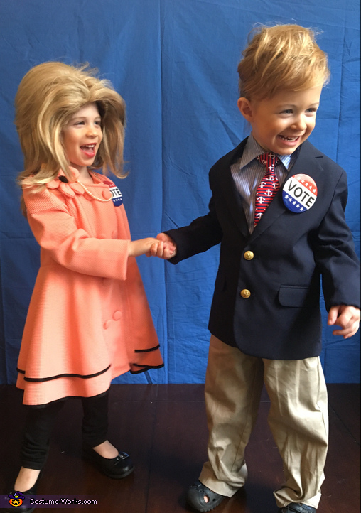 Trump and Hillary Costume