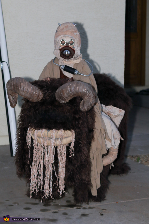 Tusken Raider riding a Bantha Costume