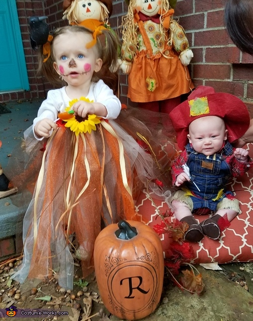 With matching scarecrow brother, Tutu Scarecrow Costume