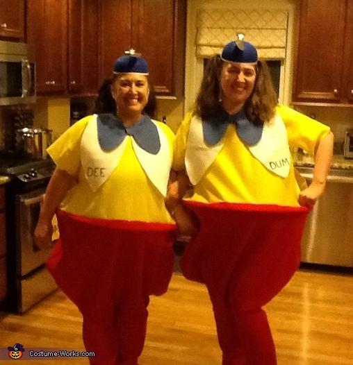 Tweedle Dee and Tweedle Dum Homemade Costumes