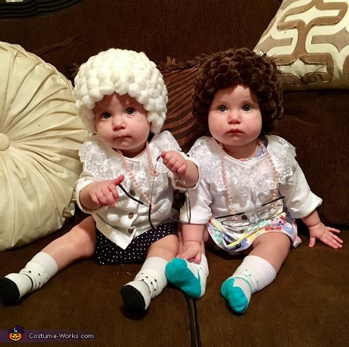 Twin Grannies Homemade Costume