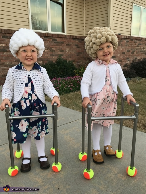 Twin Old Ladies Costume