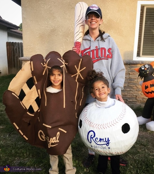 Twins Baseball & Glove Costume