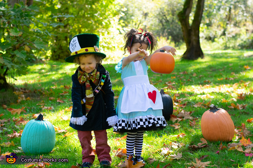 Alice and Mad Hatter, Twins of Wonderland Costume