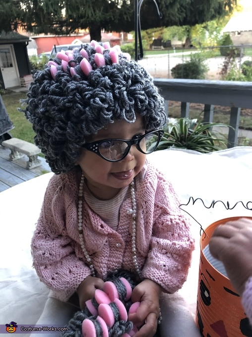 Baby B was the most cooperative., Twinsville Seniors Costume