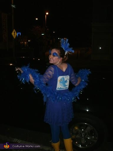 'Are you following me on Twitter yet?', Twitter Bird Costume