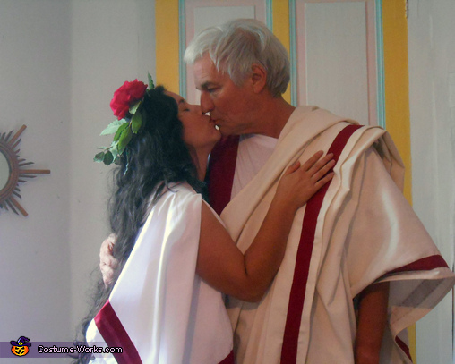Two Citizens of Ancient Rome Couple's Costume