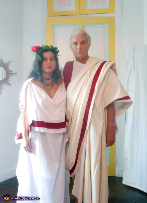 A Roman Couple, Two Citizens of Ancient Rome Couple's Costume