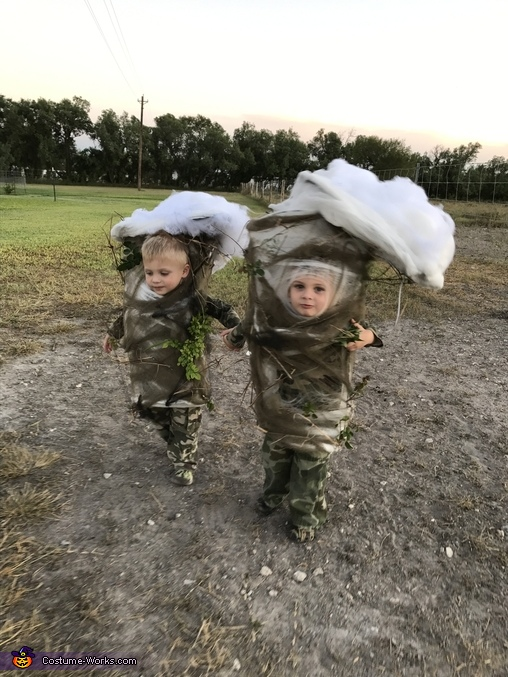 Where should the attack first, Two Texas Tornadoes Costume