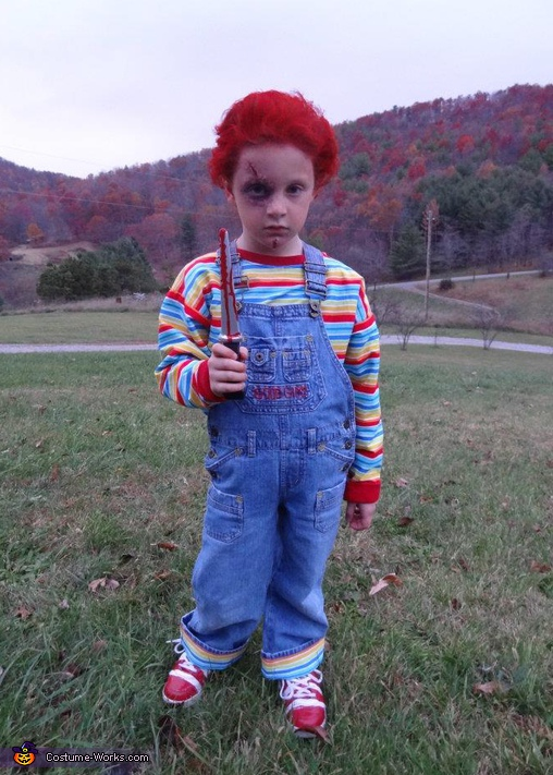 Tyler as Chucky. Horror Movies - Homemade costumes for kids