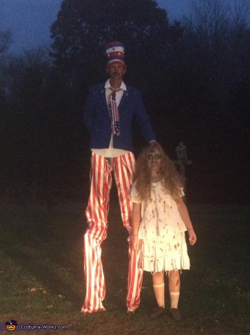 Uncle Sam with zombie, Uncle Sam Costume