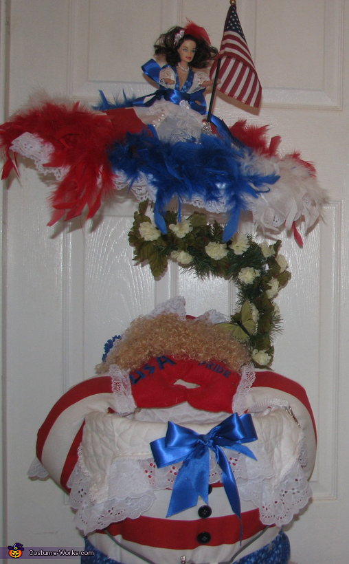 Doll front with canopy, Uncle Sam Costume