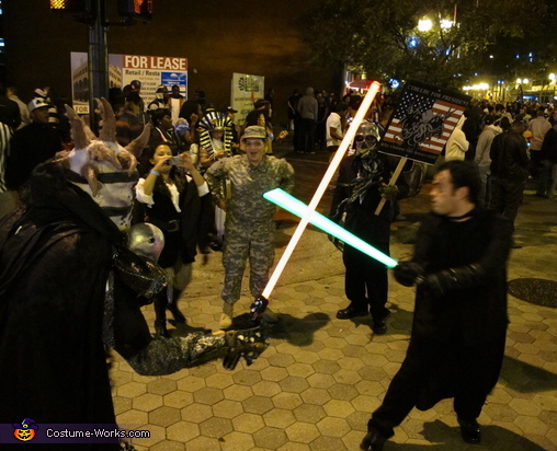 Lightsaber battles are fun., Undead Monster Skovslayer Costume