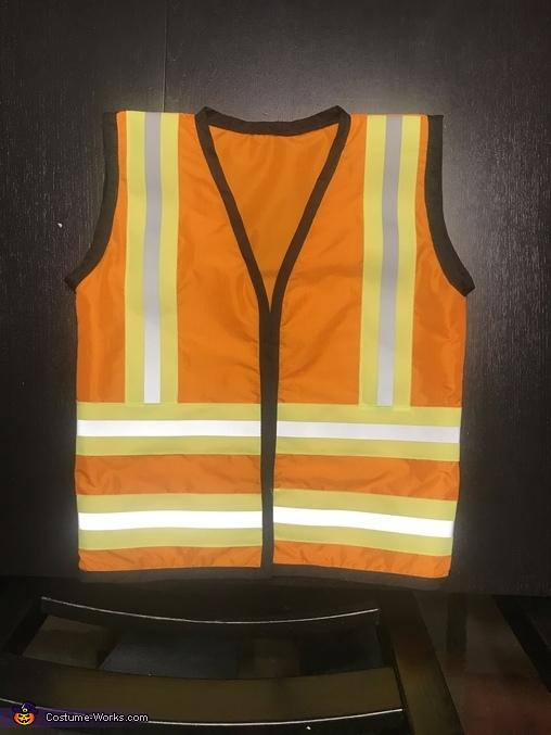 Finished construction vest, Under Construction Costume