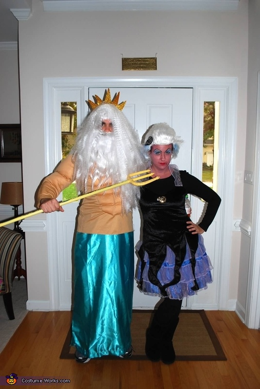 King triton & Ursula, Under the Sea Family Costume