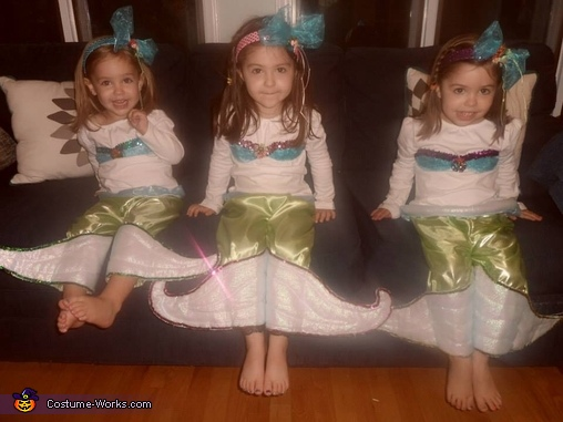 Three little mermaids, Under the Sea Family Costume