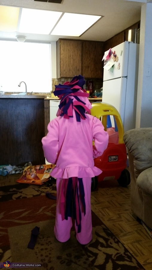 Back view, Unicorn Costume