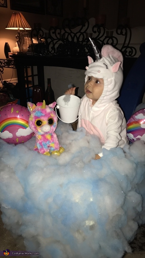 Unicorn in the Clouds Homemade Costume