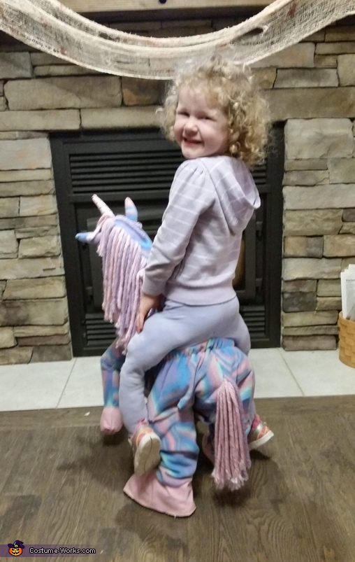 Unicorn Rider Homemade Costume