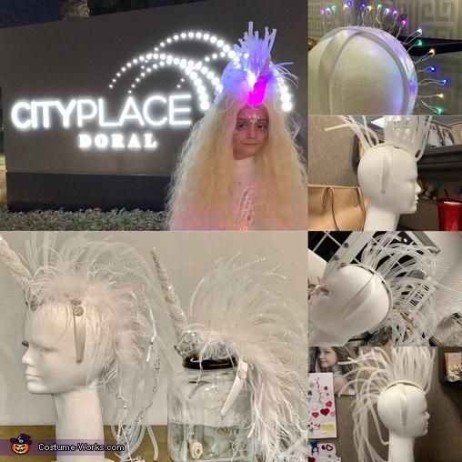Headpiece in the Making, Unicorn Twinsies Costume