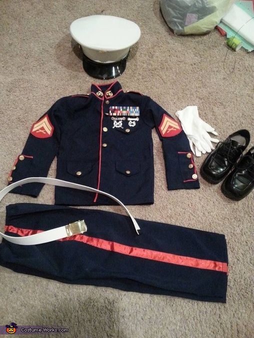 "The revamped costume, United States Marine ""Leatherneck"" Costume"