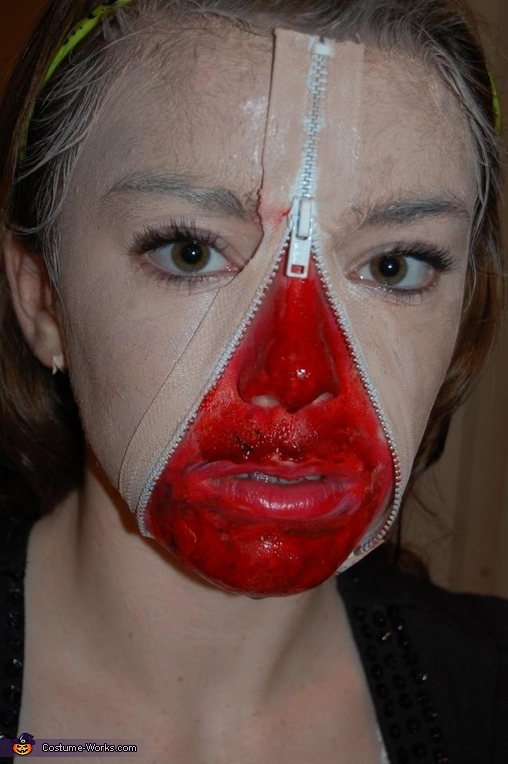 Unzipped Face Costume