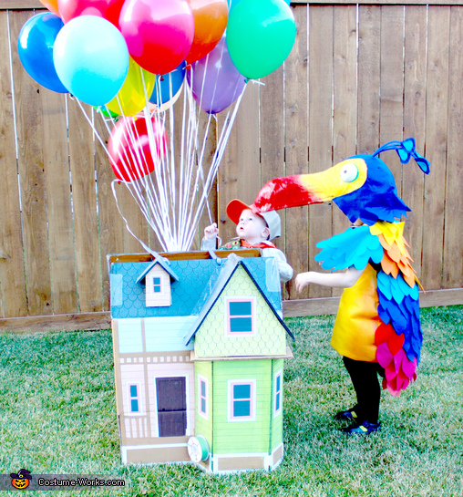 Up house, bird Kevin, and scout Russell, Up! Family Costume