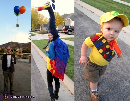 Mr. Fredrickson, Kevin, and Russel from Up, Mr. Fredrickson, Kevin, and Russel Family Costume