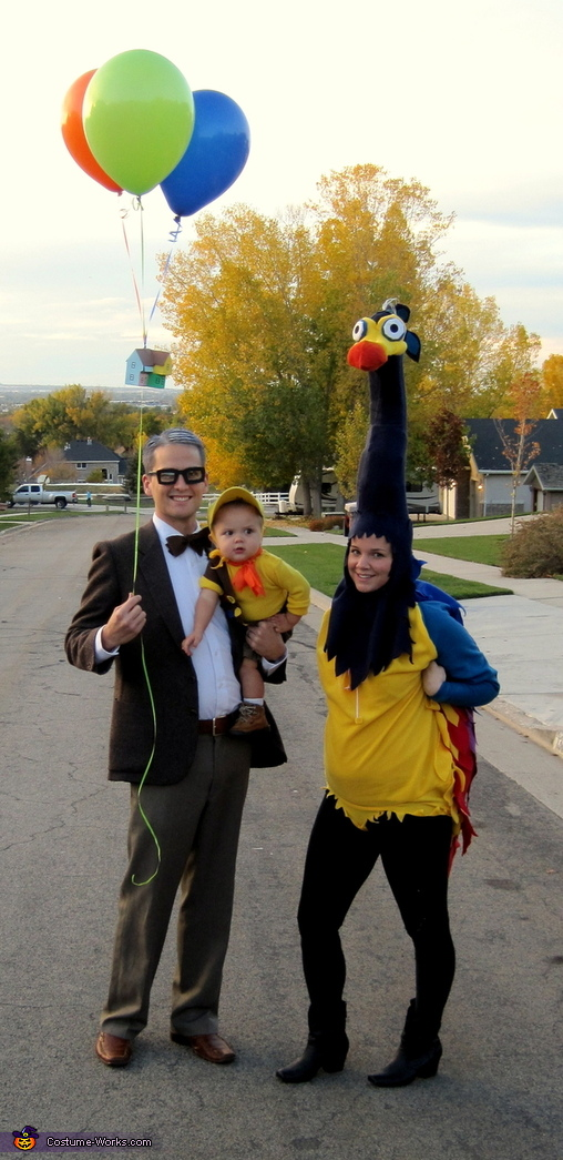 Up: Mr. Fredrickson, Kevin, and Russel - Homemade costumes for families