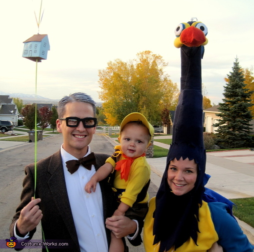We had so much fun!, Mr. Fredrickson, Kevin, and Russel Family Costume