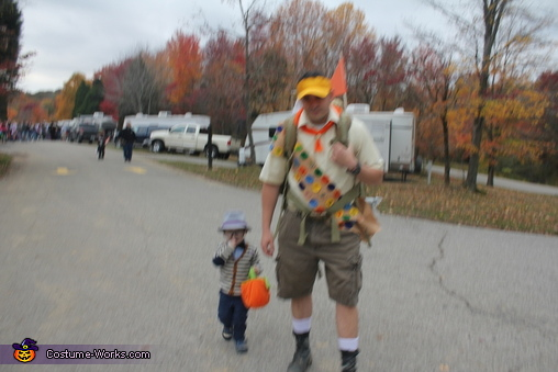 Russell and Mr. Fredrickson, UP! Mr. Fredrickson, Russell, and Kevin Costume