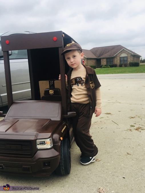 Getting close to end shift, UPS Delivery Man Costume