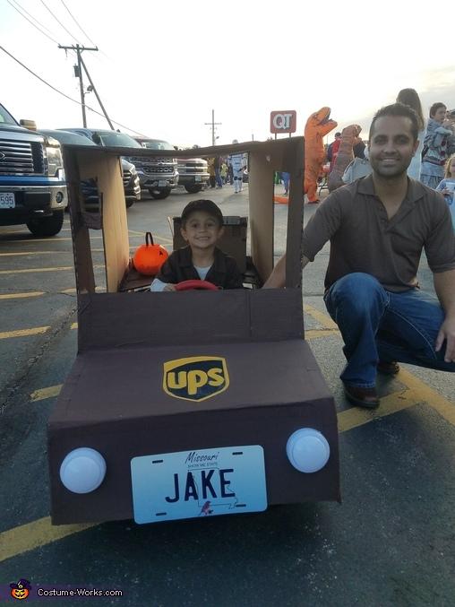 UPS Truck Driver Homemade Costume