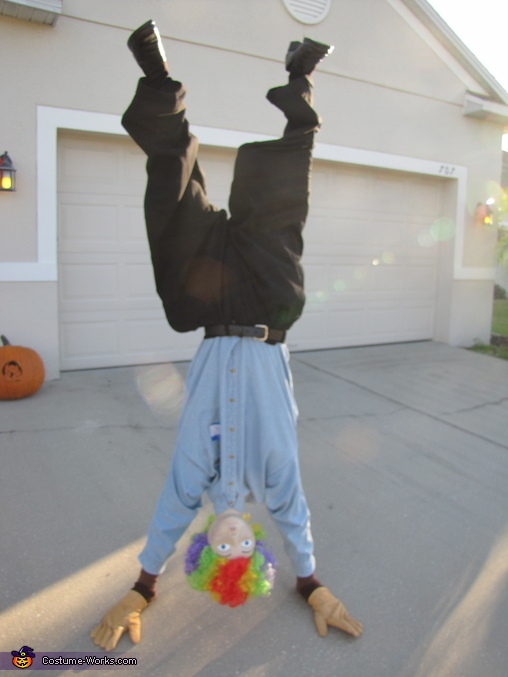 Upside Down Man Halloween Costume | Upside Down Guy Illusion Halloween Costume