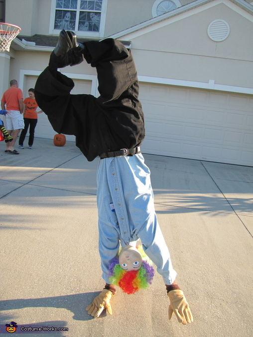 Upside Down Guy Homemade Costume