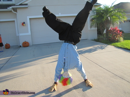 Upside Down Guy Homemade Costume