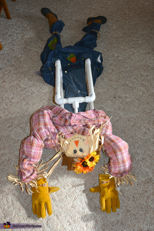 Upside Down Scarecrow Homemade Costume