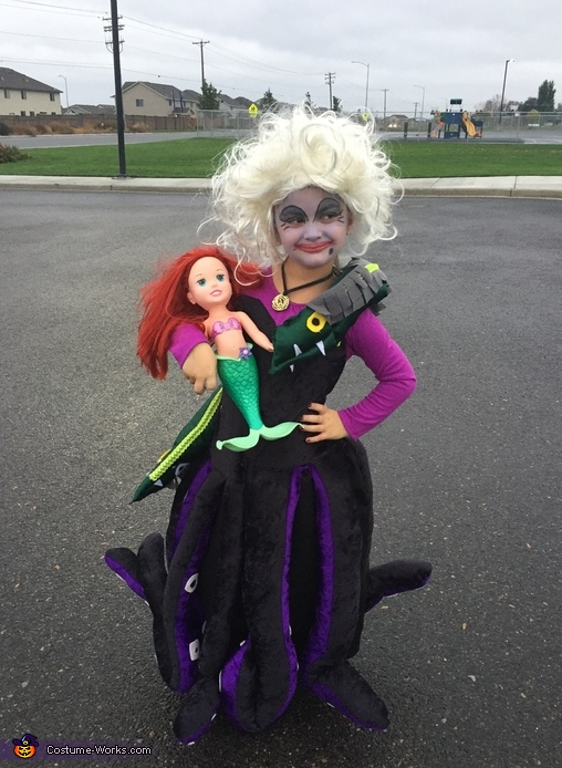 Ursula Girl Homemade Costume