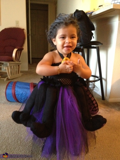 Showing off her Smile as Ursula, Ursula The Witch Costume