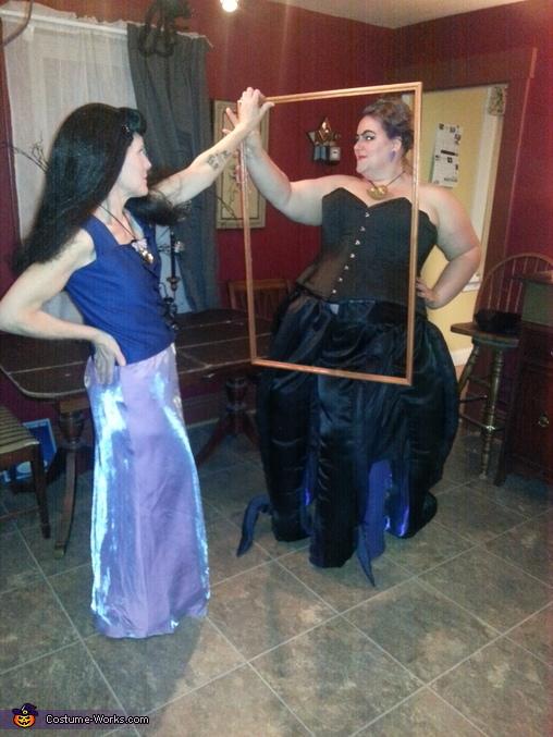 Vanessa with Ursula as her reflection, Ursula, Vanessa & Ariel Costume