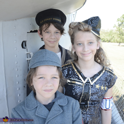 on the USS Batfish, USO WWII Family Costume
