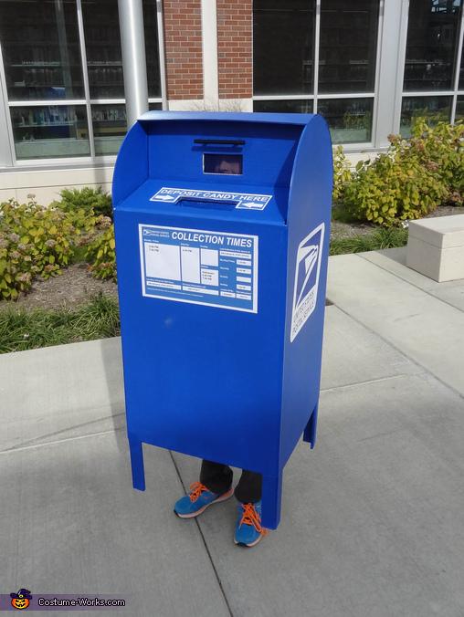 USPS Mailbox Homemade Costume