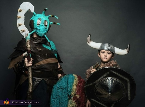 Valka and Hiccup Costume