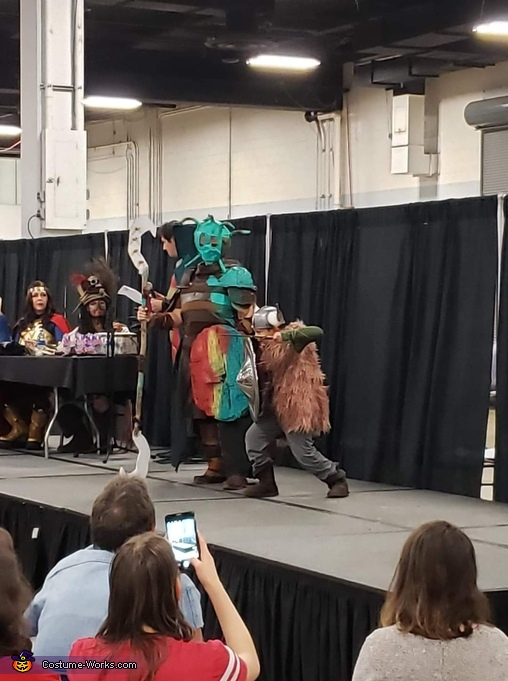 On stage one, Valka and Hiccup Costume